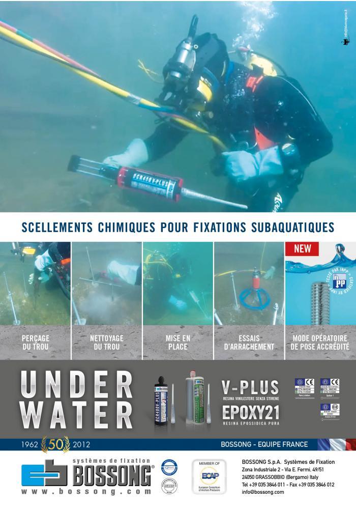 scellement chimiques Bossong pour fixations subaquatiques